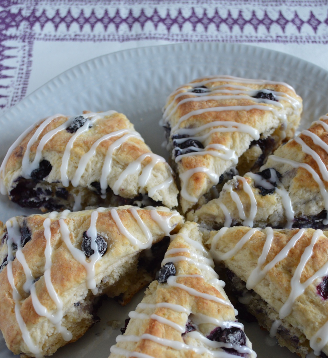 Blueberry & Lemon Ricotta Scones